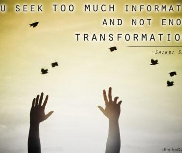 INFORMATION VS. TRANSFORMATION